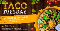 Taco tuesday facebook shared banner template