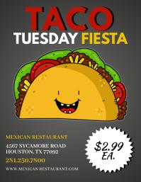 Taco Tuesday Fiesta Flyer Template Volante (Carta US)