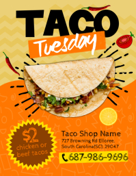 Taco Tuesday Flyer Рекламная листовка (US Letter) template