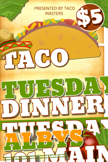 Taco Tuesday Template | PosterMyWall