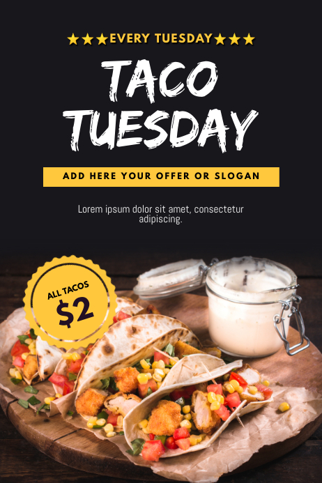 Taco Tuesday Flyer Template