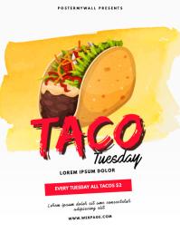 Taco Tuesday Flyer Template Iflaya (Incwadi ye-US)
