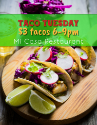 Taco Tuesday Night Taco Special Flyer Template