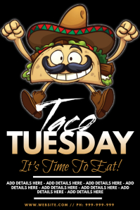 Taco Tuesday Poster template