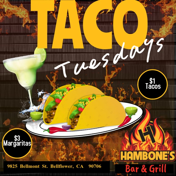 Taco Tuesday Publicación de Instagram template