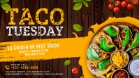 Taco tuesday social media twitter post banner Iphosti le-Twitter template