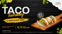 Taco tuesday social media twitter post banner Twitter-opslag template