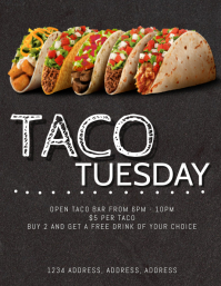 Taco Tuesday Special Flyer Template
