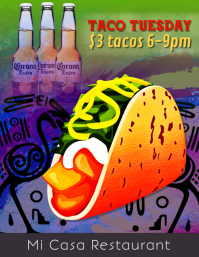 Taco Tuesday Taco specials Night Flyer Template