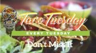 Taco Tuesday video demo Digital Display (16:9) template