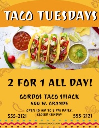 TACO TUESDAY WITH OPTIONAL MUSIC ใบปลิว (US Letter) template