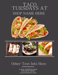 Taco Tuesdays Restaurant Flyer Template Pamflet (VSA Brief)
