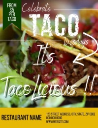 Taco Tuesdays Restaurant Flyer Template