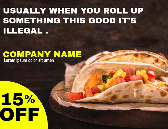 Tacos advertisement flyer template