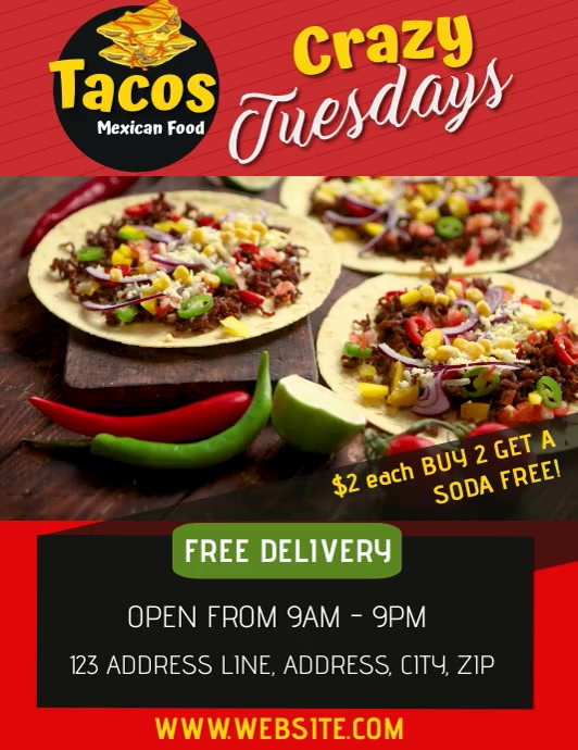 TACOS Flyer (Letter pang-US) template