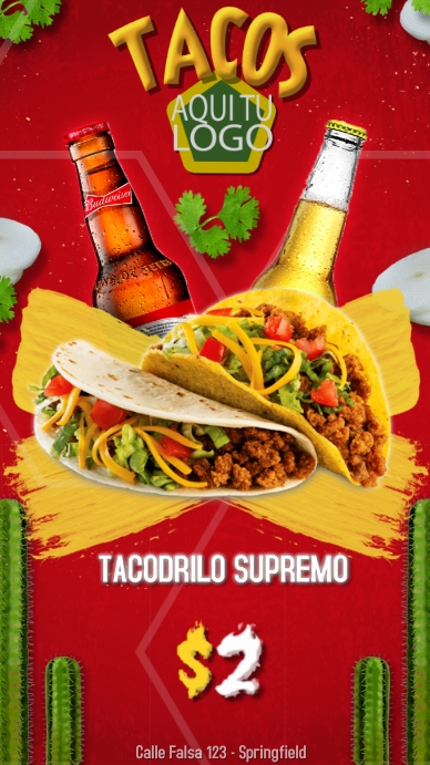 Tacos - Drilo - Supremo Digital na Display (9:16) template