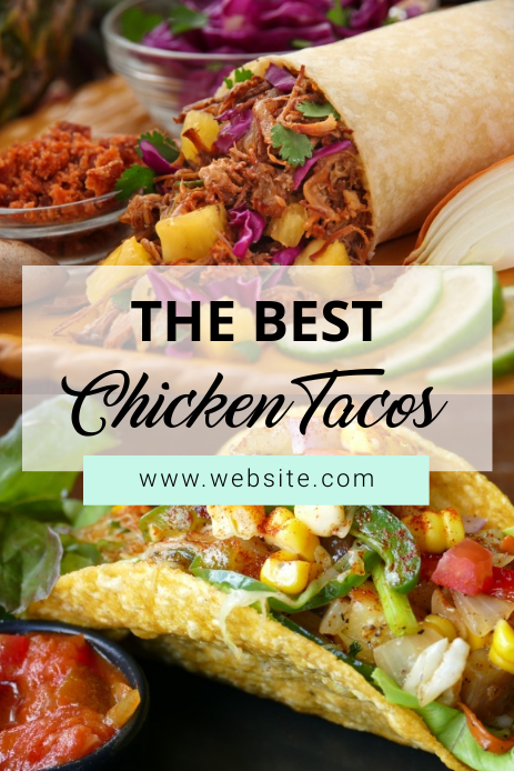 Tacos Pinterest Graphic template