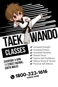 Taekwando Classes Poster Template
