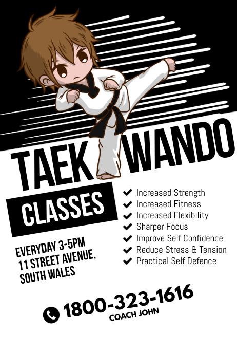 Taekwando Classes Poster Template