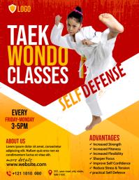 Taekwondo Classes Flyer template