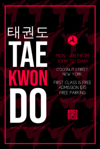 Taekwondo Poster template