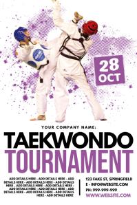Taekwondo Tournament Poster