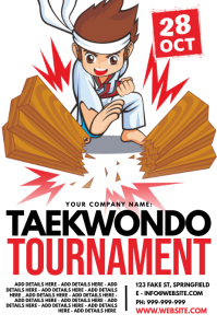 Taekwondo Tournament Poster template