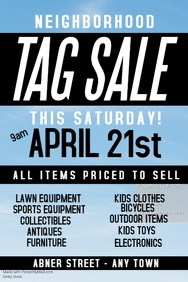 TAG SALE TEMPLATE