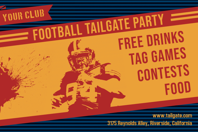 Tailgate Bar Party Invitation Poster
