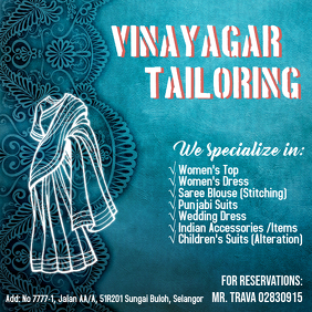 Tailoring Flyer