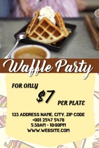 waffle Plakat template