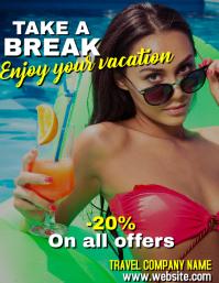 Take a break flyer advertisement for travel a