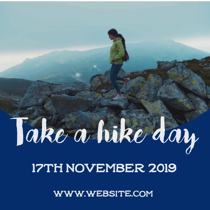 Take a hike day Cuadrado (1:1) template