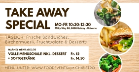 Take Away Banner Header Food Delivery Advert