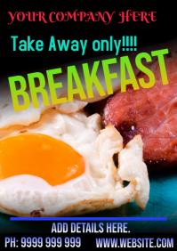 Take Away Breakfast A5 template
