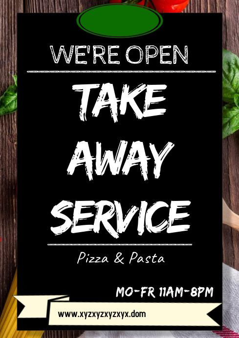 Take Away Poster Flyer Food Delivery Template A4