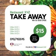 Take Away Restaurant OfferTemplate Instagram