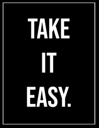 TAKE IT EASY Flyer (Letter pang-US) template