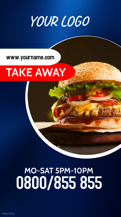 Take Out Away Fast Food Truck Menu ad Instagram-verhaal template