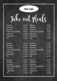 Take out meals flyer poster special meal