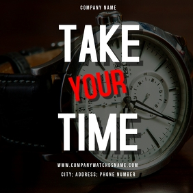 Take your time - Instagram post