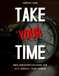 Take your time - Small business Flyer