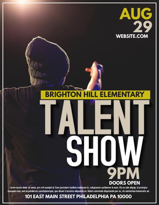 Talent Show Flyer Template Choice Image Template Design Ideas