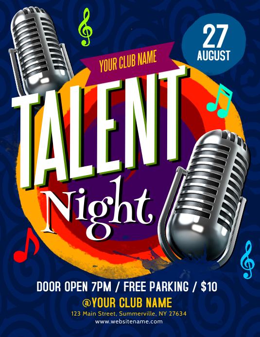 Talent Night Flyer