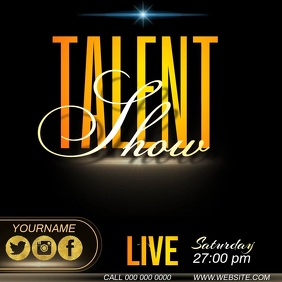 talent show ad template Instagram Post