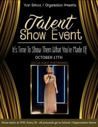 Talent Show Event Flyer Template
