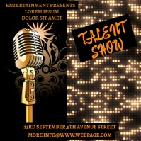 talent show flyer Album Cover template