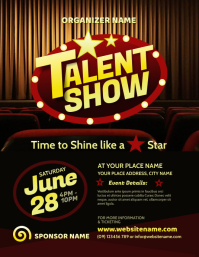 Talent Show Flyer ใบปลิว (US Letter) template
