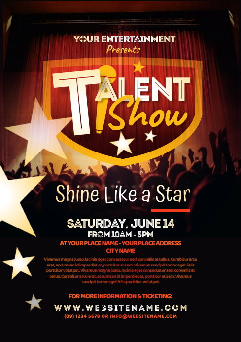 Talent Show Flyer A4 template