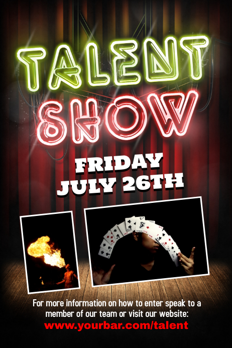 free talent show flyer template